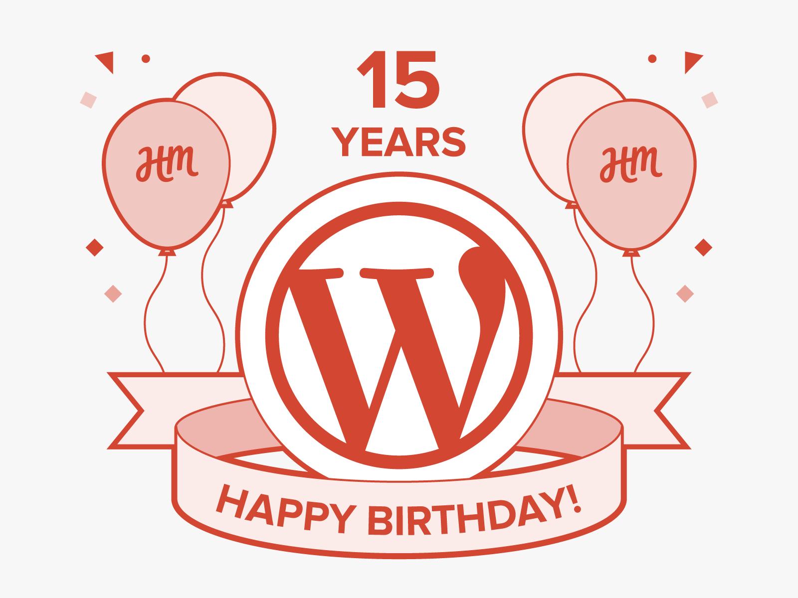 WordPress 15th Birthday