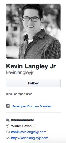 Kevin Langley Jr Github profile