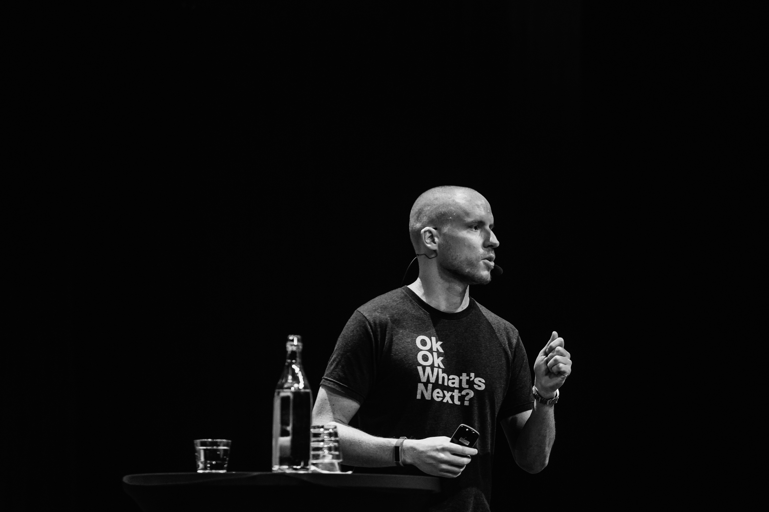 Noel Tock, Chief Growth Officer, at Human Made speaking on stage at WCEU 2018